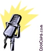 Cool microphone Vector Clipart picture
