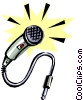 Vector Clip Art picture  of a Cool microphone