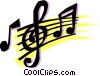 Vector Clipart image  of a Musical notes