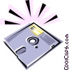 Diskette Vector Clipart picture