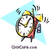 Cool alarm clock Vector Clipart illustration