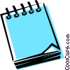 Cool notepad Vector Clipart picture
