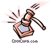 Cool gavel Vector Clipart illustration