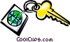 Vector Clipart graphic  of a Cool key