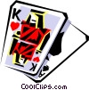 Cool playing card Vector Clipart image