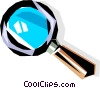 Cool magnifying glass Vector Clipart picture