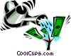 Cool money tree Vector Clipart picture
