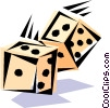 Cool dice Vector Clipart picture