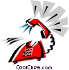 Vector Clip Art image  of a Cool phone