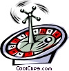 Roulette wheel Vector Clipart graphic