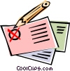 Ballot with pencil Vector Clipart image