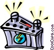 Vector Clipart picture  of a 12 volt battery