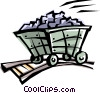 Vector Clip Art graphic  of a Cool coal truck