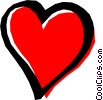 Vector Clipart graphic  of a Cool heart