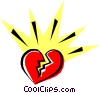 Vector Clip Art image  of a Cool heart