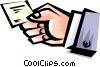 Vector Clip Art graphic  of a Cool hands