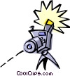 Vector Clipart image  of a Cool camera