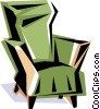 Vector Clipart graphic  of a Cool chair