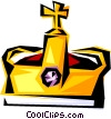 Vector Clipart illustration  of a Cool crown