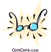 Cool eyeglasses Vector Clip Art graphic