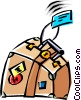 Vector Clipart graphic  of a Cool luggage