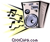 Vector Clipart illustration  of a Stereo speakers