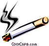 Vector Clip Art graphic  of a depiction of a cigarette