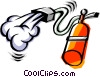 Vector Clip Art image  of a Cool fire extinguisher