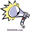 Air horn Vector Clipart illustration