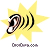 Cool ear Vector Clipart illustration
