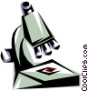 Vector Clip Art graphic  of a Cool microscope