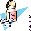 Vector Clip Art image  of a Pills