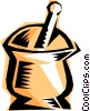 RX, mortar and pestle Vector Clip Art picture