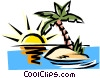 Deserted island Vector Clipart picture