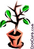 Vector Clipart illustration  of a Potted plant