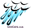Rain clouds Vector Clip Art graphic