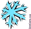Vector Clipart image  of a Snowflake