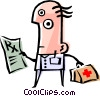 Cool doctor Vector Clipart picture