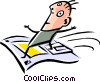Cool surfer Vector Clipart illustration