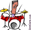 Vector Clipart illustration  of a Cool musician