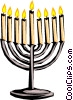 Vector Clipart graphic  of a Candelabrum