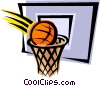 Vector Clip Art image  of a Basketball net