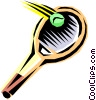 Vector Clipart graphic  of a Tennis racket