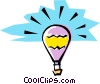 Vector Clipart graphic  of a Cartoon Balloon floating in