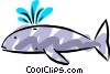 Vector Clip Art graphic  of a Cool whale