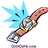 Cool watch Vector Clipart illustration