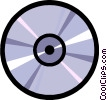 Vector Clip Art image  of a Symbol of a CD-ROM disk