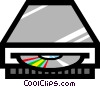 Symbol of a CD-ROM player Vector Clipart illustration