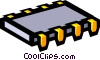 Vector Clip Art image  of a Symbol of a computer chip