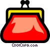 Vector Clipart graphic  of a Symbol of a coin purse